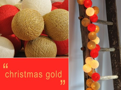Happy Lights LED-pallovalosarja Christmas Gold (20 kpl)